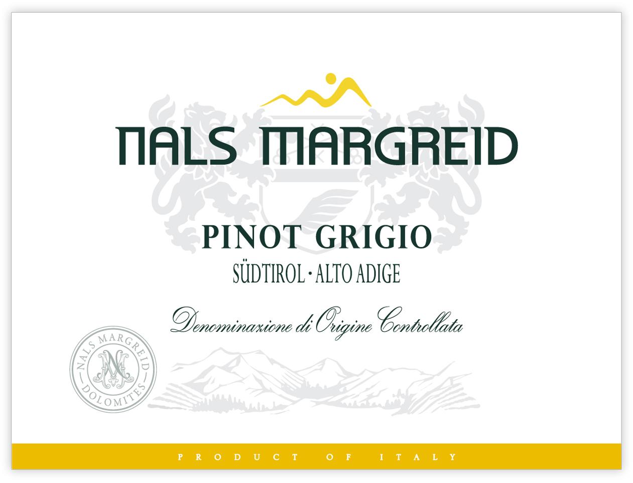 Nals Margreid Pinot Grigio 2017 750ml12 Massanois