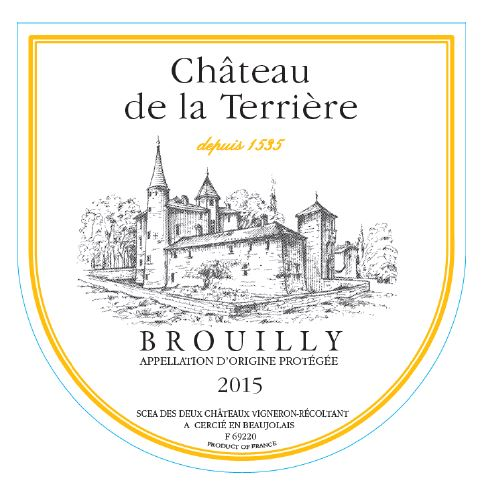 Chateau la terriere brouilly tradition 2015 750ml 12 for Brouilly chateau de la chaise